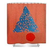 Tipi With Fire Detail Shower Curtain