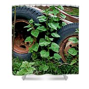 Tires And Ivy Shower Curtain