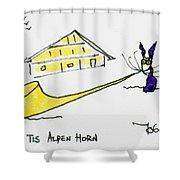 Tis Alpenhorn Shower Curtain