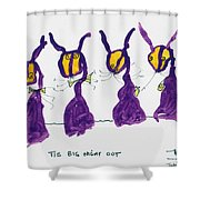 Tis Big Night Out Shower Curtain
