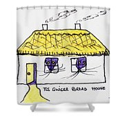 Tis Gingerbread House Shower Curtain