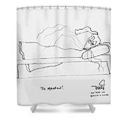 Tis Manflu Shower Curtain