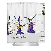 Tis Rock 'n Roll Shower Curtain