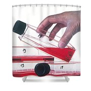 Tissue Culture Shower Curtain