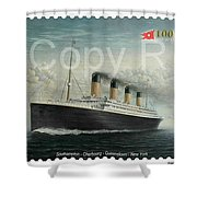 Titanic Memorial Stamp Shower Curtain