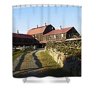 To The Barn Shower Curtain
