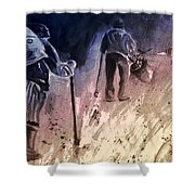Together Old In Cyprus 04 Bis Shower Curtain