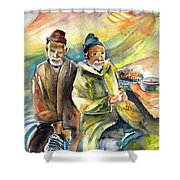 Together Old In Morocco 02 Shower Curtain