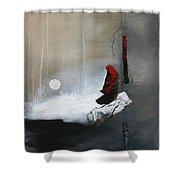 Tokyo Moon Shower Curtain