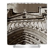 Toledo Cathedral Entrance In Sepia Shower Curtain