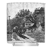 Toll Gate, 1879 Shower Curtain