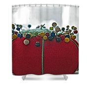 Tomato Pins II Shower Curtain