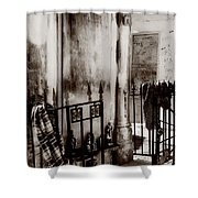 Tomb Famille Perrault Black And White Shower Curtain