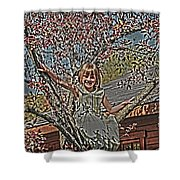 Tomboy In The Tree Shower Curtain