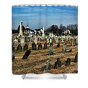 Tombstones Shower Curtain by Paul Ward