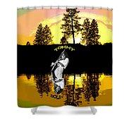 Amber Lake #3 Shower Curtain