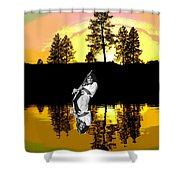 Amber Lake #4 Shower Curtain