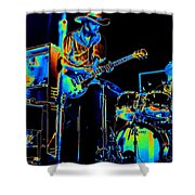 Getting Very Electric At Winterland In December 1975 Shower Curtain