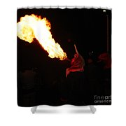 Tongue Of Fire Shower Curtain