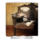 Top Hat And Cane On Sofa Shower Curtain