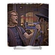 Top Hat Busker Shower Curtain