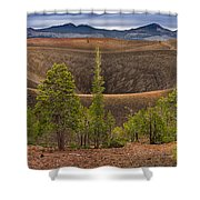 Top Of Cinder Cone Shower Curtain