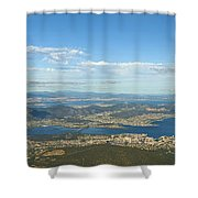 Top Of Mount Wellington Tasmania Shower Curtain