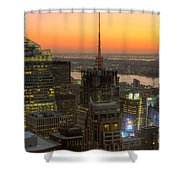 Top Of The Rock Twilight Ix Shower Curtain by Clarence Holmes