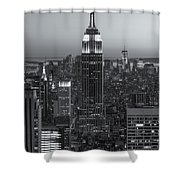 Top Of The Rock Twilight Vi Shower Curtain