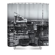 Top Of The Rock Twilight Vii Shower Curtain