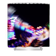 Top Spin Shower Curtain