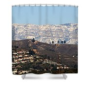 Topa Topa Snow Shower Curtain