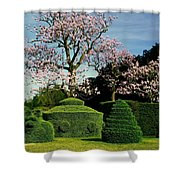 Topiary Garden In Spring Shower Curtain