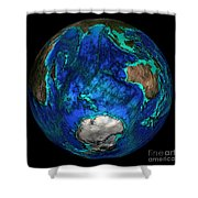 Topographical Map Of Coordinates 45 S Shower Curtain by Science Source