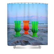 Topsail Hurricane Glasses Shower Curtain