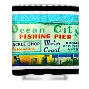 Topsail Island Old Sign Shower Curtain