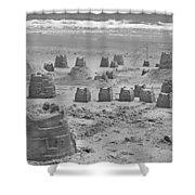 Topsail Island Sandcastle Shower Curtain