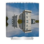 Topsail Island Tower Reflection Shower Curtain