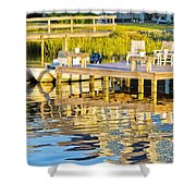 Topsail Sound At Sunset Shower Curtain
