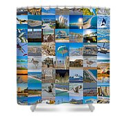 Topsail Visual Contemporary Quilt Series I Shower Curtain