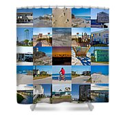 Topsail Visual Contemporary Quilt Series II Shower Curtain