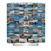 Topsail Visual Contemporary Quilt Series IIi Shower Curtain