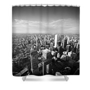 Toronto From Above Shower Curtain