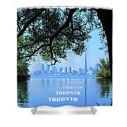 Toronto Harbour Poster Shower Curtain