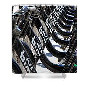 Toronto Public Bikes Shower Curtain