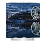 Torquay Marina And The Big Wheel Shower Curtain