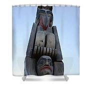 Totem Pole 14 Shower Curtain