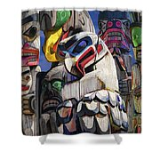Totem Poles In The Pacific Northwest Shower Curtain
