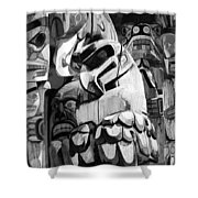 Totem Poles On Vancouver Island Shower Curtain