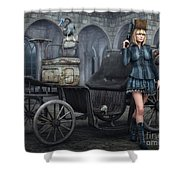 Tough Lady Shower Curtain